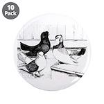 """Koros Tumbler Pigeons 3.5"""" Button (10 pack)"""