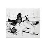 Koros Tumbler Pigeons Throw Blanket
