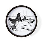 Koros Tumbler Pigeons Wall Clock