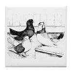 Koros Tumbler Pigeons Tile Coaster