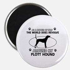 Plott Hound dog funny designs Magnet