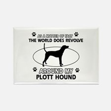 Plott Hound dog funny designs Rectangle Magnet