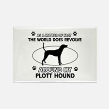 Plott Hound dog funny designs Rectangle Magnet (10