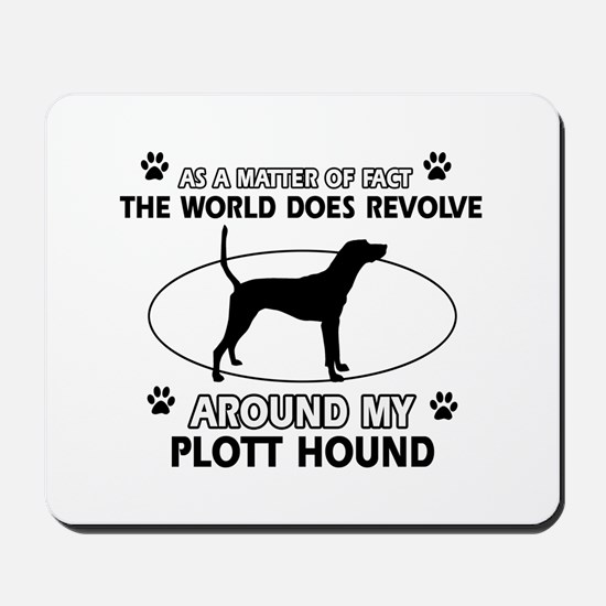 Plott Hound dog funny designs Mousepad