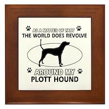 Plott Hound dog funny designs Framed Tile