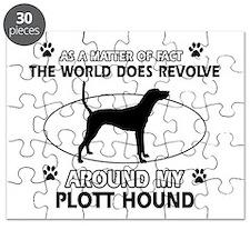 Plott Hound dog funny designs Puzzle