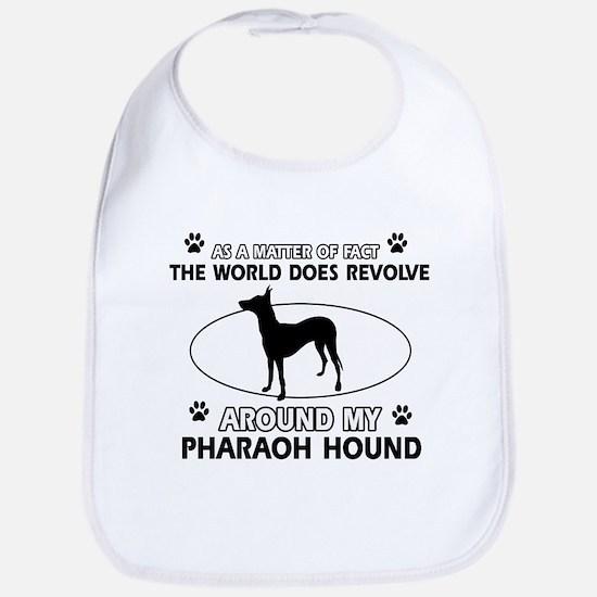 Pharaoh Hound dog funny designs Bib