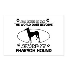 Pharaoh Hound dog funny designs Postcards (Package
