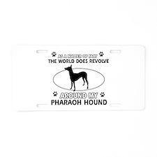 Pharaoh Hound dog funny designs Aluminum License P