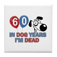 60 year old gift ideas Tile Coaster