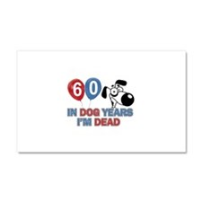 60 year old gift ideas Car Magnet 20 x 12
