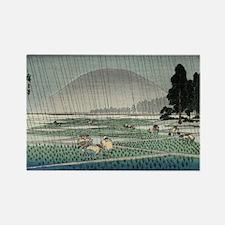 Rice Planting In Rain - Hiroshige Ando - 1858 - wo