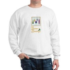 Season's Greeting Embroidered Look Sweat
