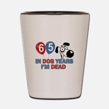 65 year old gift ideas Shot Glass