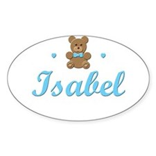 Blue Teddy - Isabel Oval Decal