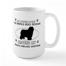 Polish Lowland Sheep dog funny designs Mug