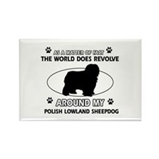 Polish Lowland Sheep dog funny designs Rectangle M
