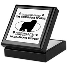 Polish Lowland Sheep dog funny designs Keepsake Bo