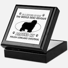 Polish Lowland Sheep dog funny designs Keepsake Bo