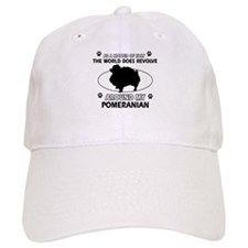 Pomeranian dog funny designs Baseball Cap