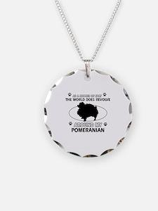 Pomeranian dog funny designs Necklace