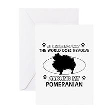 Pomeranian dog funny designs Greeting Card