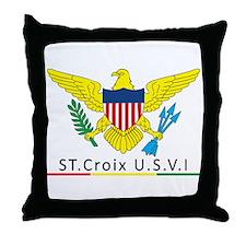 VI Rasta Throw Pillow