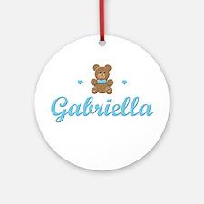 Blue Teddy - Gabriella Ornament (Round)