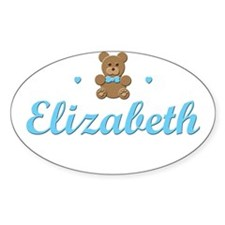 Blue Teddy - Elizabeth Oval Decal