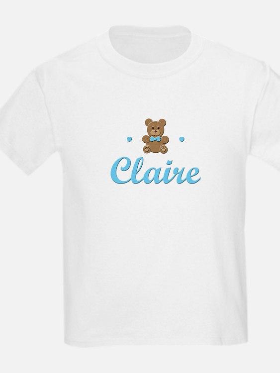 Blue Teddy - Claire Kids T-Shirt