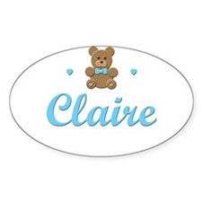 Blue Teddy - Claire Oval Decal