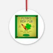 IRISH PUB PERSONALIZED Ornament (Round)