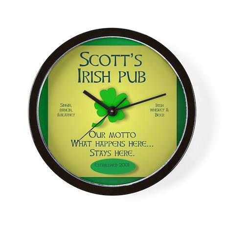 IRISH PUB PERSONALIZED Wall Clock