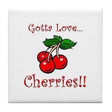 Cute Cherries Tile Coaster