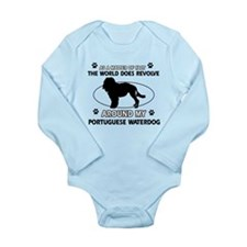 Portuguese water dog funny designs Long Sleeve Inf