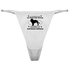 Portuguese water dog funny designs Classic Thong