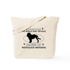 Portuguese water dog funny designs Tote Bag