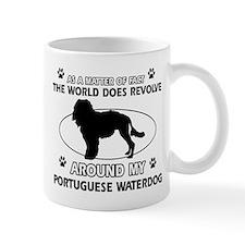 Portuguese water dog funny designs Small Mug