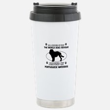 Portuguese water dog funny designs Thermos Mug