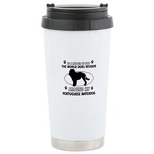 Portuguese water dog funny designs Travel Mug