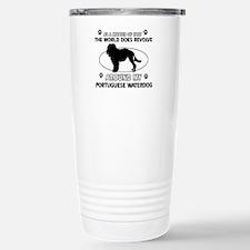 Portuguese water dog funny designs Travel Mug