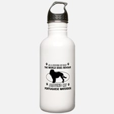 Portuguese water dog funny designs Water Bottle