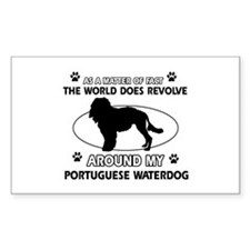 Portuguese water dog funny designs Decal