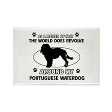 Portuguese water dog funny designs Rectangle Magne