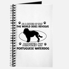 Portuguese water dog funny designs Journal