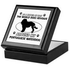 Portuguese water dog funny designs Keepsake Box