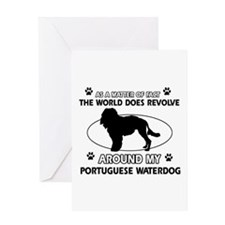 Portuguese water dog funny designs Greeting Card
