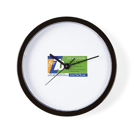 7for70.com Wall Clock