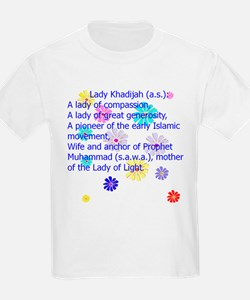 Lady Khadijah Who is She? Kids T-Shirt