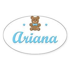Blue Teddy - Ariana Oval Decal